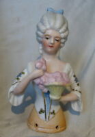 "4"" ANTIQUE GERMANY*FIGURAL LADY HALF DOLL*PIN CUSHION DOLL GERMAN*SCHNEIDER*"