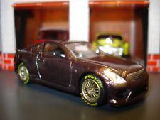 INFINITI G37 COUPE CUSTOM EDITION 1/64 HW CUSTOM WHEELS & TIRES BROWN LUXURY CAR