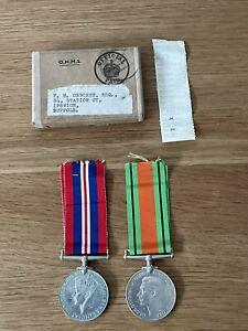 Old Original WW2 Medal War & Defence Box