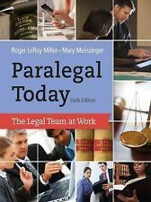 Paralegal Today : The Legal Team at Work (2013, Hardcover)