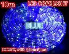 10M 240 LEDs Rope Lights BLUE 8 Functions Outdoor Christams Wedding Party