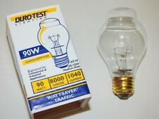 4 DURO-TEST USA LONG LIFE TRAFFIC LIGHT BULBS 90W 8,000 HOURS AT19 FREE SHIPPING
