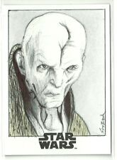 2017 Topps Star Wars The Last Jedi Supreme Lead Snoke Sketch Card - John Sloboda