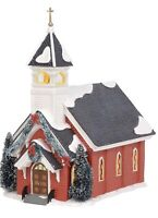 "NEW Department 56 Snow Village ""MOUNT OLIVE CHURCH"" Lit Building RETIRED 6003134"