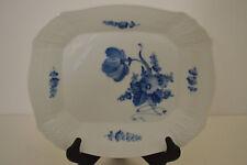 ROYAL COPENHAGEN BLUE FLOWERS BRAIDED SQUARE CAKE PLATE MARKED 10/1717