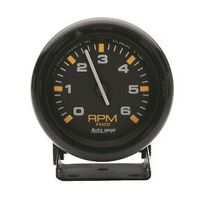 Auto Meter Autogage Pedestal Mount Mini Tach Tachometer 2-3/4 in. 6000 RPM