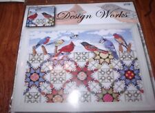 "Design Works  FEATHERED STARS Birds & Quilt Counted Cross Stitch Kit  12"" x 16"""