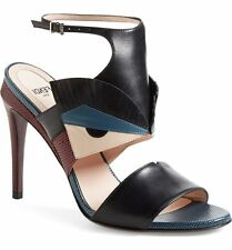 NIB FENDI BUGS Monster Leather Sandal Heel Ankle strap Shoe Shoes Sz 38 - 7,5 US