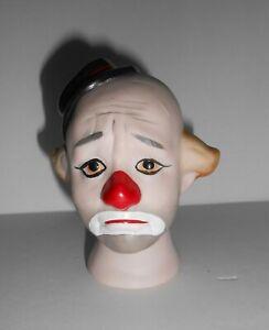 Ceramic Sad Clown Face Doll Head