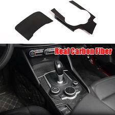 For Alfa Romeo Giulia REAL Carbon Fiber Central Console Panel Frame Cover Trim