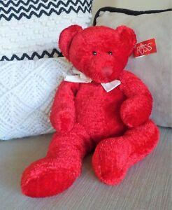 "One Very Cute Plush Red Handmade Beanie Russ Teddy Bear "" Item No. 4648 """