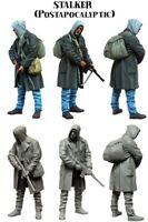 1/35 Post Apocalyptic Stalker Hunter Figure Unpainted Unassembled Resin Kit