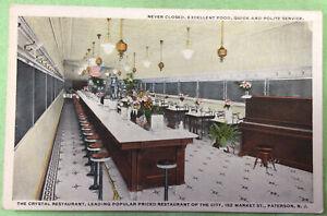 Crystal Restaurant Paterson N J Vintage Advertising Postcard