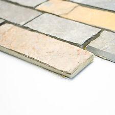 Fliesen Mosaik Naturstein Schiefer Braun   Rost Boden Bad Küche WC NEU 10mm  #336