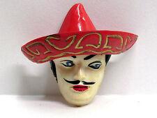 "Vtg 1940's ""Westward-ho!"" Mexican Celluloid Figural Pin Brooch MINT!"