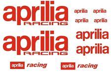 Aprilia Racing Motorsport  -  Aufkleber / Sticker Set für Motorrad Auto