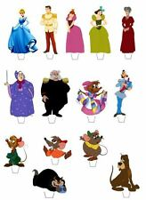 14 DISNEY CINDERELLA CHARACTERS EDIBLE CUPCAKE/FAIRY CAKE TOPPERS **STAND UPS**