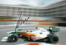 Giancarlo Fisichella Hand Signed Force India Monaco Photo 12x8 1.