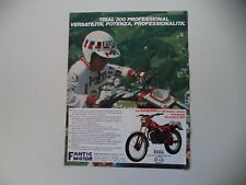 advertising Pubblicità 1984 MOTO FANTIC TRIAL 300 PROFESSIONAL