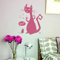 Cartoon Cat & Mouse - House Cat Transfer / Stylish House Cat Wall Sticker CA25