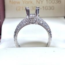 0.41 ct Diamond Semi Mount Engagement Ring in 18k White Gold
