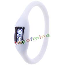 Blanco Nueva Moda de caucho de silicona de Nagative Sport Reloj unisex Wholesale