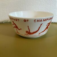 Vintage 1937 Wheaties Breakfast of Champions Milk Glass Premium Cereal Bowl