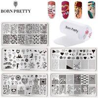 3Pcs/Set Nail Art Stamping Plates Stamper Scraper Valentine's Day Stamp Template