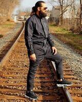 Nike Men's Tech Air Jumpsuit Black Full Body Suit Lightweight Fabric 898298-010