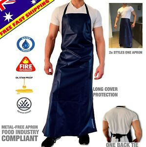 WATERPROOF APRON PVC PROTECTIVE LONG RESTAURANT WORKWEAR STRONGEST CHEMICALPROOF