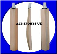 Senior Custom Plain Hand Made English Willow Cricket Bat + Extras