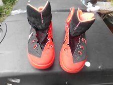 NIKE HYPERDUNK 2014 Red Black Basketball Hi Top shoes US 11