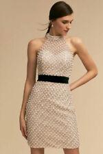 Terani Couture Pearl Crystal Bridal Halter Neck Short Wedding Dress 0 NWT $495