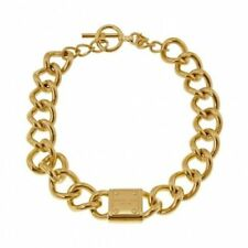 Michael Kors Chunky Chain Choker Necklace Padlock Pendant Gold MKJ3618040