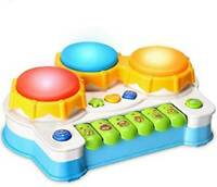Electronic Baby Musical Toy,Keyboard Piano Hand Clapping Drum 2 in 1 Kids Early