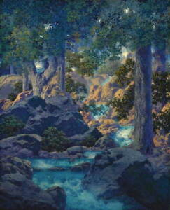 Maxfield Parrish Good Fishing Poster Reproduction Paintings Giclee Canvas Print