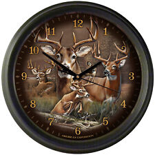 """American Expedition 16"""" Wall Clock - """"  WHITETAIL DEER """"  RUNS 1 """" AA """" BATTERY"""