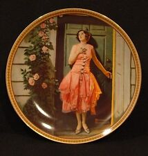 "NIB ""Standing in the Doorway"" Rediscovered Women Series  Norman Rockwell Plate"