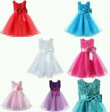 Knee Length Polyester Sleeve Dresses (2-16 Years) for Girls