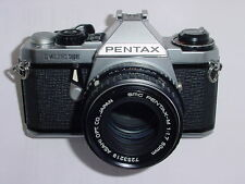 Pentax Me Super 35mm cámara de cine con SMC PENTAX-M 50mm F/1.7 Lente.