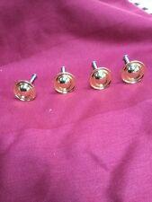 "New Set Of 4 Knobs, Drawer Pulls 1.5"" Diameter Heavy Gold Metal"