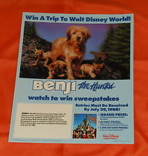 vintage BENJI THE HUNTED video store counter display small standee
