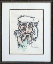 Michael Dore Authentic Contemporary Man Hand Colored Signed Numbered Lithograph