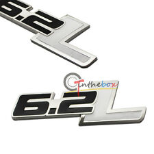 1pc 6.2L Side Rear Trunk Fender Badge Emblem Sticker Decal For Chevy Camaro SS