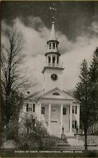 Exterior Street View Church of Christ Congregational Norfolk CT Postcard B6