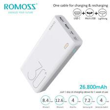 Romoss 26800mAh Power Bank 3USB Carica Batteria Esterna Portatile Rapida QC3.0