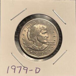 1979 D Susan B Anthony Dollar Coin Denver Mint - Narrow Rim