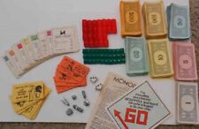 VINTAGE MONOPOLY BOARD GAME PIECES REPLACEMENT MONEY TOKENS DICE CARDS HOTEL +