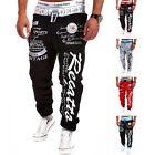 Men Casual Sweatpants Jogger Dance Sportwear Baggy Harem Slacks Trousers Pants E