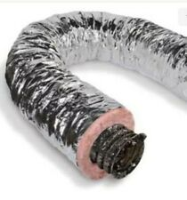 Insulated Flexible Duct 6 Inch X 25 Ft R8 Silver